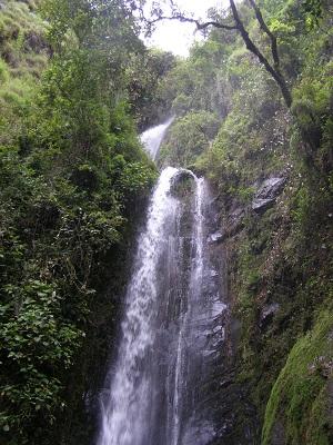 Waterfall in Vilcabamba, Ecuador