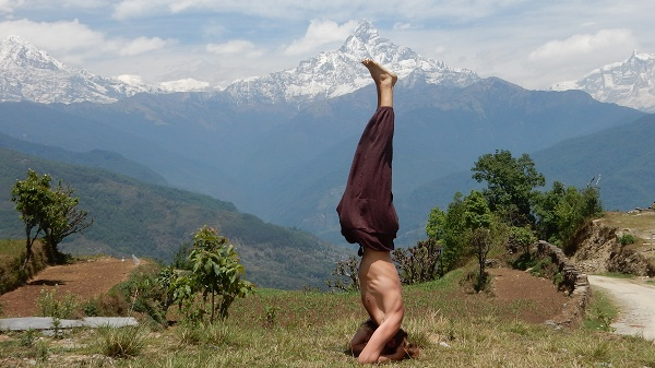 Yoga in Dhampus, Nepal