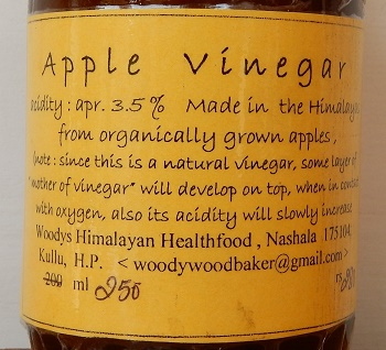 Apple cider vinegar from the Himalaya